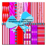 Valentine Background Digital Paper Bundle