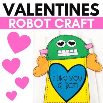 Valentine Bag Craft - Robot