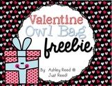 Valentine Bag Owl FREEBIE