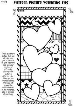 """Valentine Bag """"Pattern Picture"""": Fun Valentine's Day Activity"""