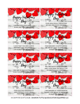 Valentine Bag Tags