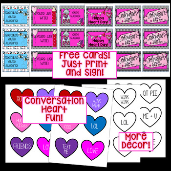 Valentine Bag and Box Decoration, Clip Art, and Lettering!