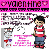 Valentine Bag and Box Toppers! Valentine Day Made Fun and Easy!