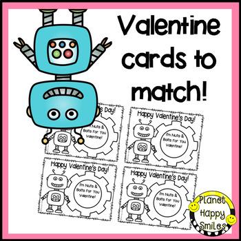 Valentine Bag or Bulletin Board Robot Craft