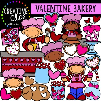 Valentine Clipart: Bakery {Creative Clips Clipart}
