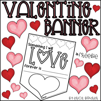graphic relating to Valentine Banner Printable known as Valentine Banner Freebie!