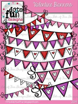 Valentine Banners ~Dots of Fun Designs