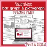 Valentine Bar Graphs & Pictographs   Valentine's Day Digital Math