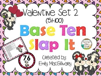 Valentine Base Ten (10) Slap It! (51-100)