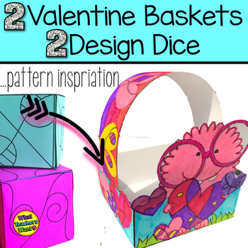 Valentine Baskets With Design Dice