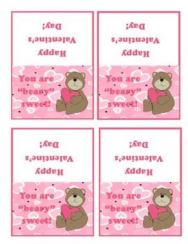 Valentine Bear Favor Tags
