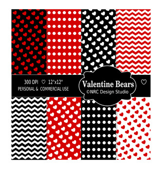 Valentine Bear Paper Pack