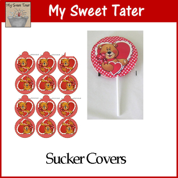 Valentine Bear Sucker Covers