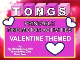 Fine Motor: Valentine Bear Tongs Skills Labs for Center Time or Therapy