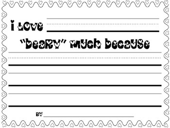 Valentine Bear Writing Craftivity