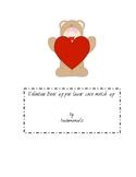 Valentine Bear upper/ lower case match