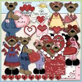 Valentine Bears Clip Art - Valentine's Day Clip Art - CU C