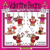 Valentine Bears Clip Art