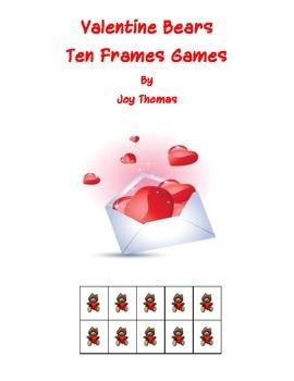 Valentine Bears Ten Frames Games