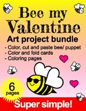 Valentine Bee Mine Art Project 6 pack