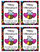 Valentine Bee Tags