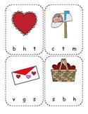Valentine Beginning Sound Clip Cards