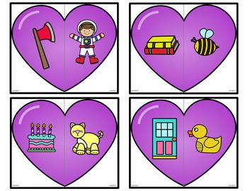 Valentine's Day Beginning Sound Puzzles