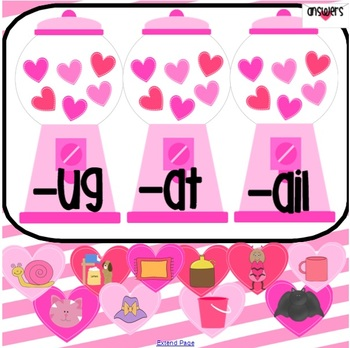 Valentine Beginning Sound and Word Family