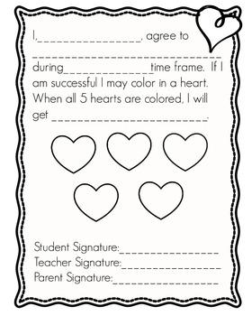 Valentine Behavior Contract