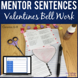 """Bell Ringers for Middle School: Month of """"Mentor Stanzas"""""""