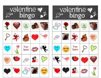 Valentine Bingo - 24 different Valentine cards for a fun bingo time!