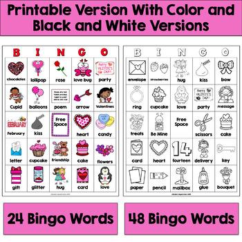 Valentine Bingo: Printable and Digital Versions!