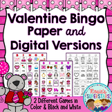 Valentine Bingo: Printable and Digital Versions!