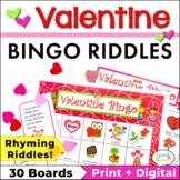 Valentine Bingo Riddles Game