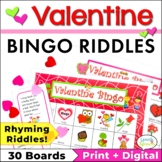 Valentine Bingo Riddles Game