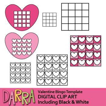 Valentine Bingo Templates