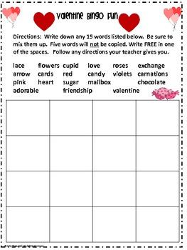Valentine Bingo and More