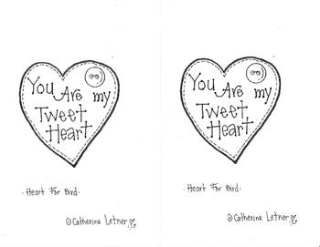 Valentine Bird Tweet Heart