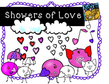 Valentine Birdie Clip Art Showers of Love Kid-E-Clips Comm and Personal Use