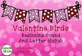 Valentine Birds Beginning Sound Match