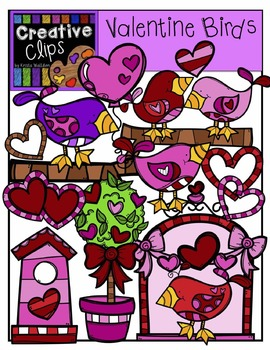 Valentine Clipart Birds {Creative Clips Clipart}