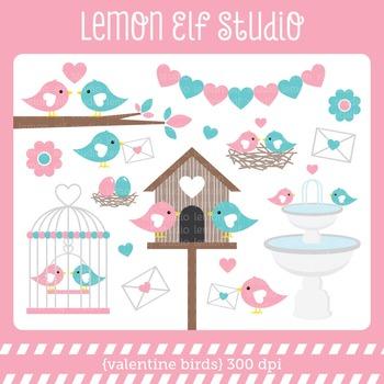 Valentine Birds-Digital Clipart (LES.CL21A)