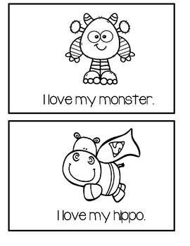 Valentine Book - I Love My Stuffed Animals