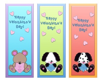 Valentine Bookmark Card