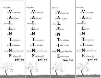 Valentine Bookmark John 3:16