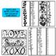 Valentine Bookmarks ~ Editable