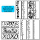 Valentine Bookmarks ~ Editable