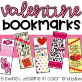 Valentine Bookmarks: Five Sweet Designs in Color and B&W options