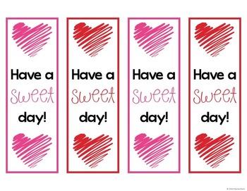 Free Valentine's Day Bookmarks