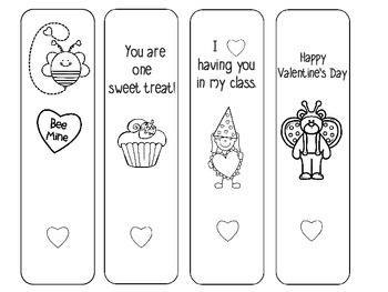 Valentine Bookmarks -Freebie